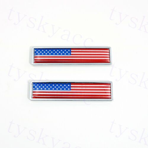 Chrome Sticker Decal USA America Flag Badge Emblem Motor Door Grille Accessories