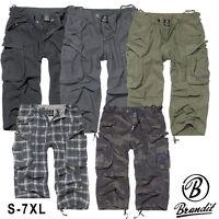 Brandit Herren Industry Vintage 3/4 Hose Bermuda Cargo Shorts Men Pants - S- 7XL