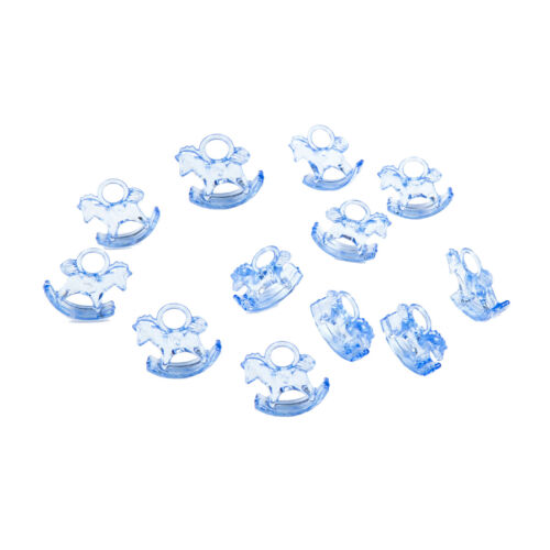Blue Rocking Horses Baby Shower Charms