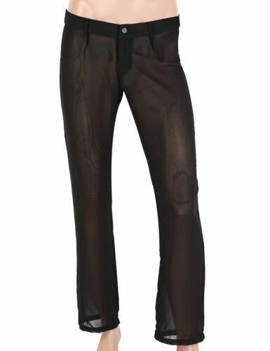 Mens See Through Mesh Underwear Sports Fitness Long johns Pants Leggings Pajamas
