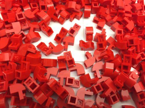 Neu Rot 2X2 1x2x1-1/3 Stein Gebogen Top 10 Teile Lego 6091