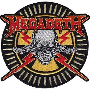 MEGADETH-SKULL-amp-LIGHTNING-BOLTS-EMBROIDERED-PATCH-BRAND-NEW-4246