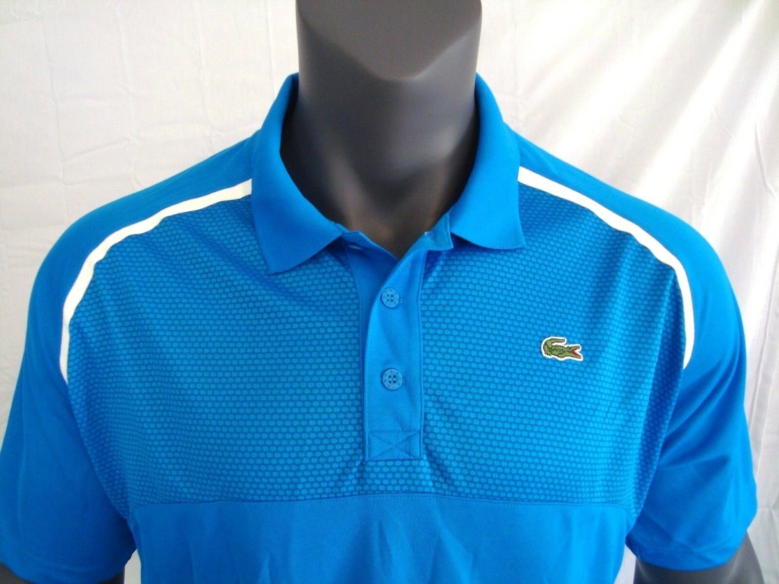 Lacoste SPORT bluee Men's Ultra Dry Mesh Jersey Athletic Polo Shirt NWT Size XS