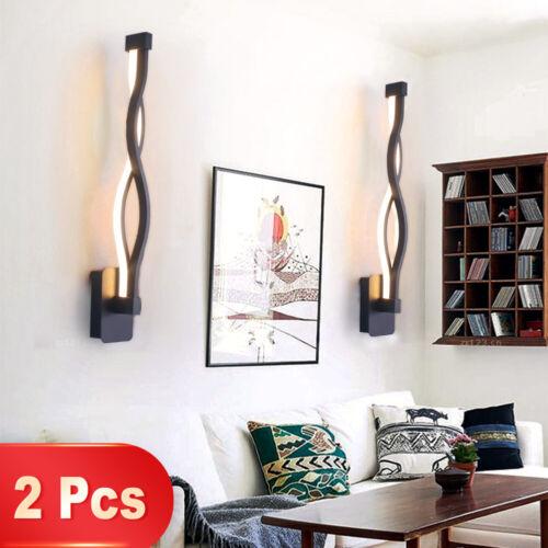 2 Pack Modern LED Wall Lamp Bedroom Beside Wall Sconce Light Corridor Wall Light