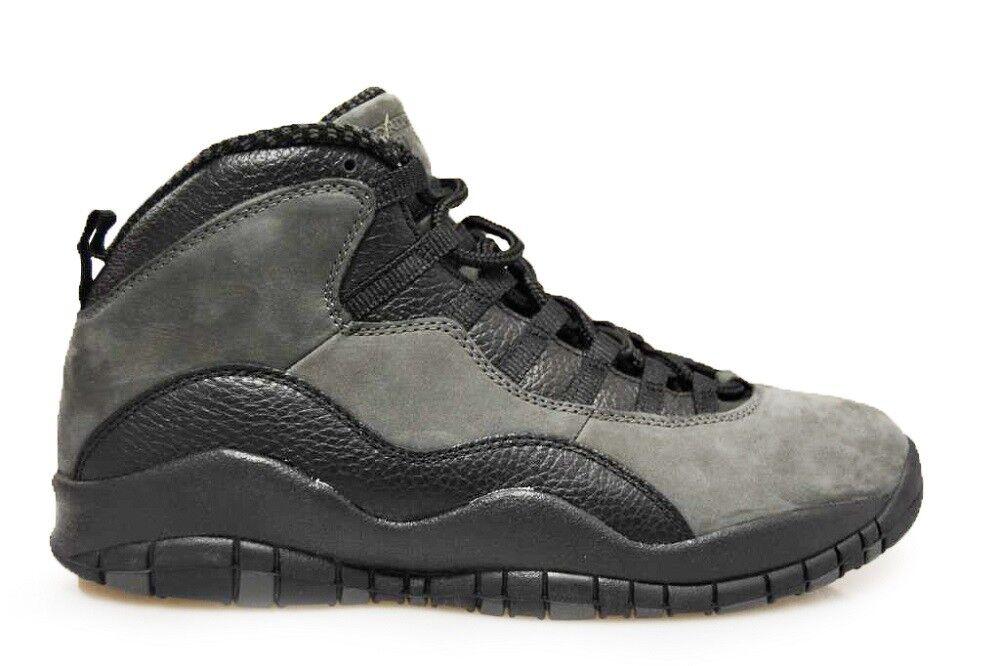 Mens Nike AIR Jordan - 10 Retro 'Dark Shadow' - Jordan 310805 002 - Black True Red Grey T abaf37