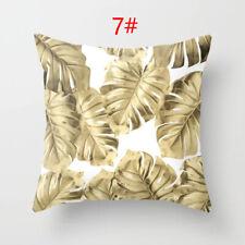 """18/"""" Gold Foil Printing Pillow Case Sofa Waist Throw Cushion Cover Car Home Decor"""
