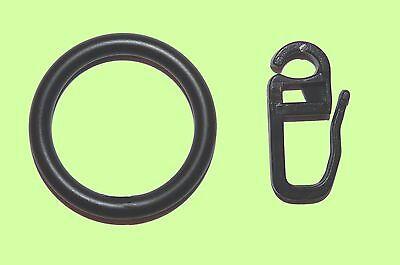 10 Gardinenringe Metall schwarz für Vorhangstangen 12 mm 16 mm 20 mm Durchmesser