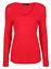 Womens-Ladies-Girls-Plain-Long-Sleeve-V-NECK-T-Shirt-Top-Plus-Size-Tops-Shirt thumbnail 16