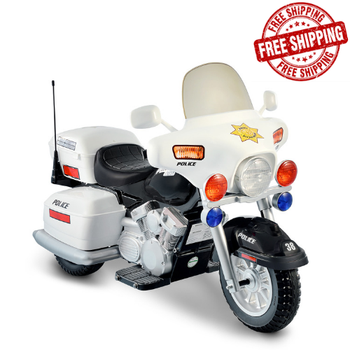 Cars For Kids >> Kids Ride On Police Toy Motorcycle 12v Battery Powered Electric Cars Lights