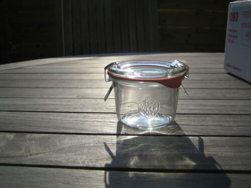 80ml with clamps and rubber ring Weck® Canning Jar 2.7 fl.oz