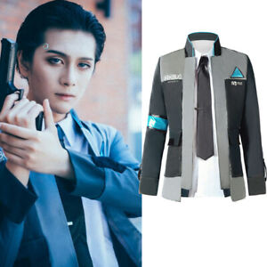 Detroit Become Human Connor Rk800 Suit Outfit Mens Jacket Cosplay Costume Lot Ebay