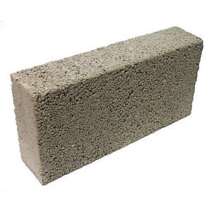 "100mm 4"" Concrete Solid Building Blocks 440mm x 225mm x 100mm Cheap"
