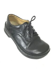 Comfort Shoes a07 Women's Shoes Born Women's Size 9.5 Black Lace Up Casual Oxford Leather Shoes