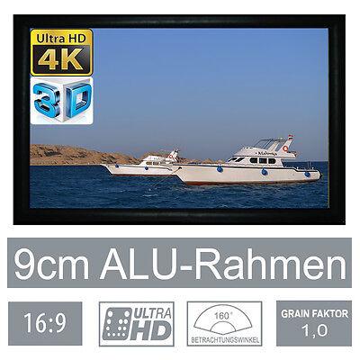 """Beamer-leinwände Hivilux 3d/4k/uhd Alu Rahmen Leinwand 16:9/110""""/244x137cm/5j.garantie/schienen/x"""