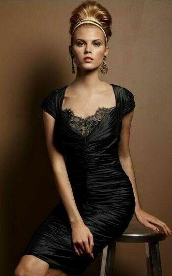 358 Tadashi Shoji schwarz Sweetheart Lace Inset Stretch Taffeta Kleid 8 a03