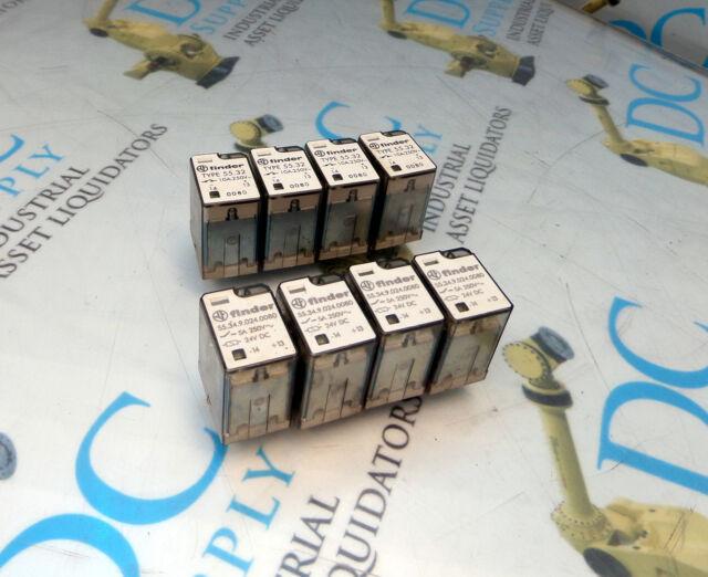 Finder 55 34 9 024 0080 5 A 250 Vdc  U0026 55 32 10 A 250 V