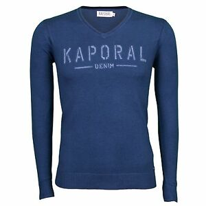 5a73e8eee5605 Pull fin en laine Kaporal Homme ZANTA Bleu, Taille S M L XL XXL   eBay
