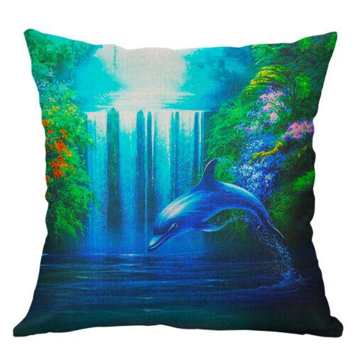 18/'/' Fashion Ocean Scenery Pillow Case Cotton Linen Cushion Cover Home Decor