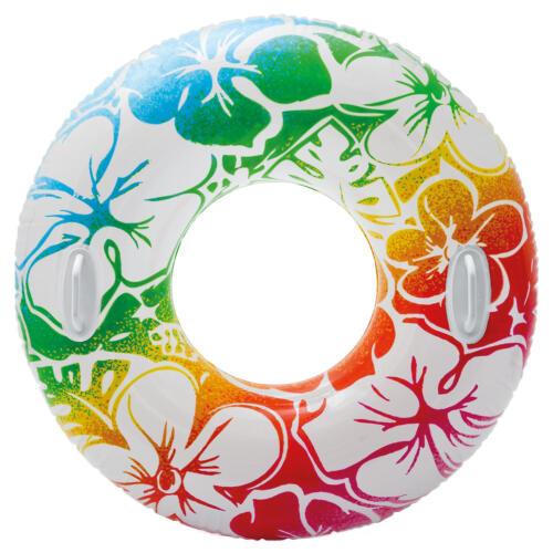 Großer XXL Schwimmring zwei Griffe Schwimmreifen Wasserreifen Wasserring Hawaii