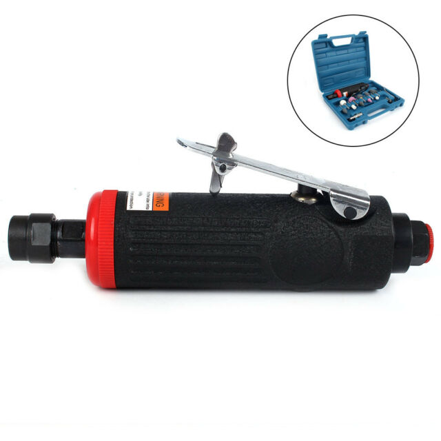 DFESKAH Air Straight Grinder 10 Grinding Heads Air Die Grinder Kit with 1//4 Inch and 1//8 Inch Collets Suitable for Automotive Field Professional Pneumatic Die Grinder with Free Speed of 22000RPM