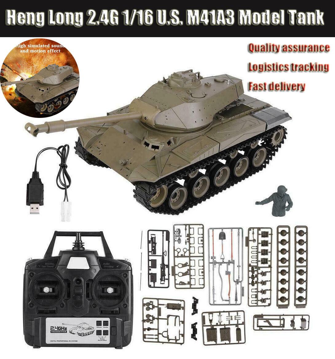 Heng lungo Upgrade 1 16 U.S. M41A3 modello TANK  2.4G 3839-1 HL RC Tank Pro edizione  a buon mercato
