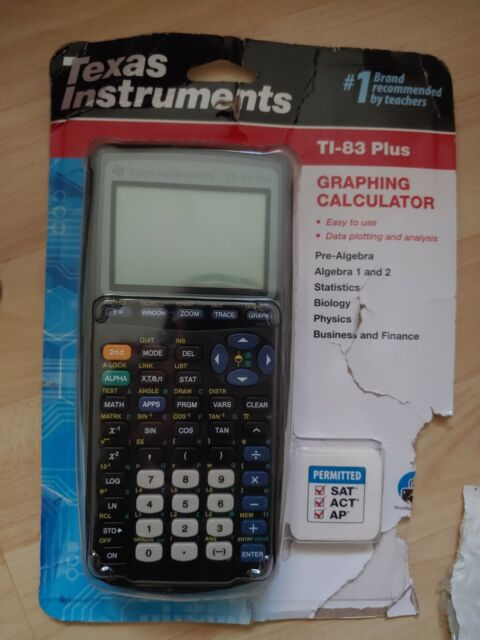 Texas Instruments TI-83 Plus Graphing Calculator New Sealed Packaging has wear!