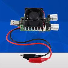 35W DC 3V-21V USB Electronic Load Battery Discharge Capacity Tester +Cooling Fan