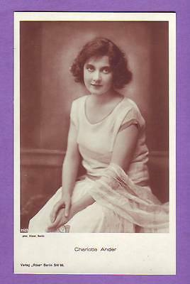 CHARLOTTE ANDER # 952/1 VINTAGE PHOTO PC. PUBLISHER GERMANY 993