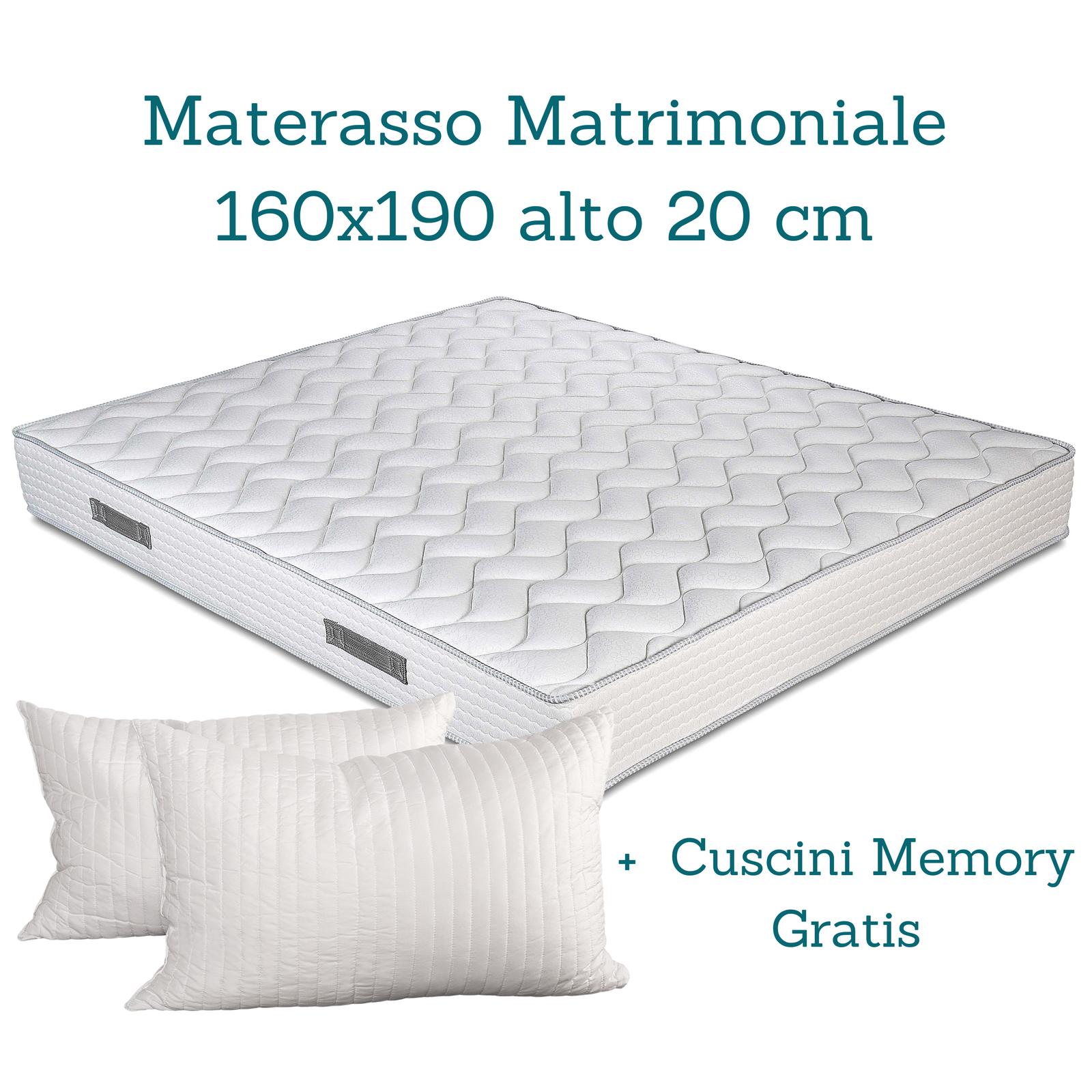 KIT Materasso Materasso Materasso Waterfoam, Rete Ferro a Doghe in Faggio +Cuscini MemoryFoam GRATIS c04484