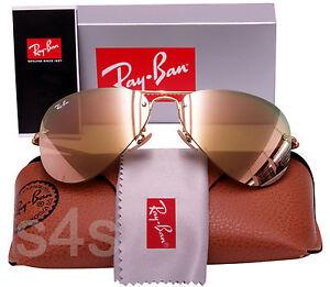 7ead5e82805ec Ray Ban Gafas de sol de aviador sin montura Marrón Dorado     Rosa ...