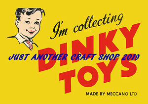 Dinky-Toys-Vintage-1950-039-s-Poster-Shop-Display-Sign-Advert-High-Quality-Leaflet