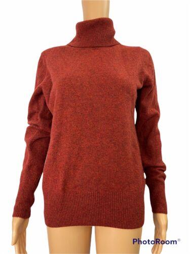 J Crew Collection Italian Cashmere Orange Knit Tur