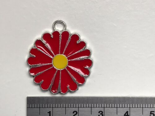 flower charms mixed or same colour Enamel daisy set of 4