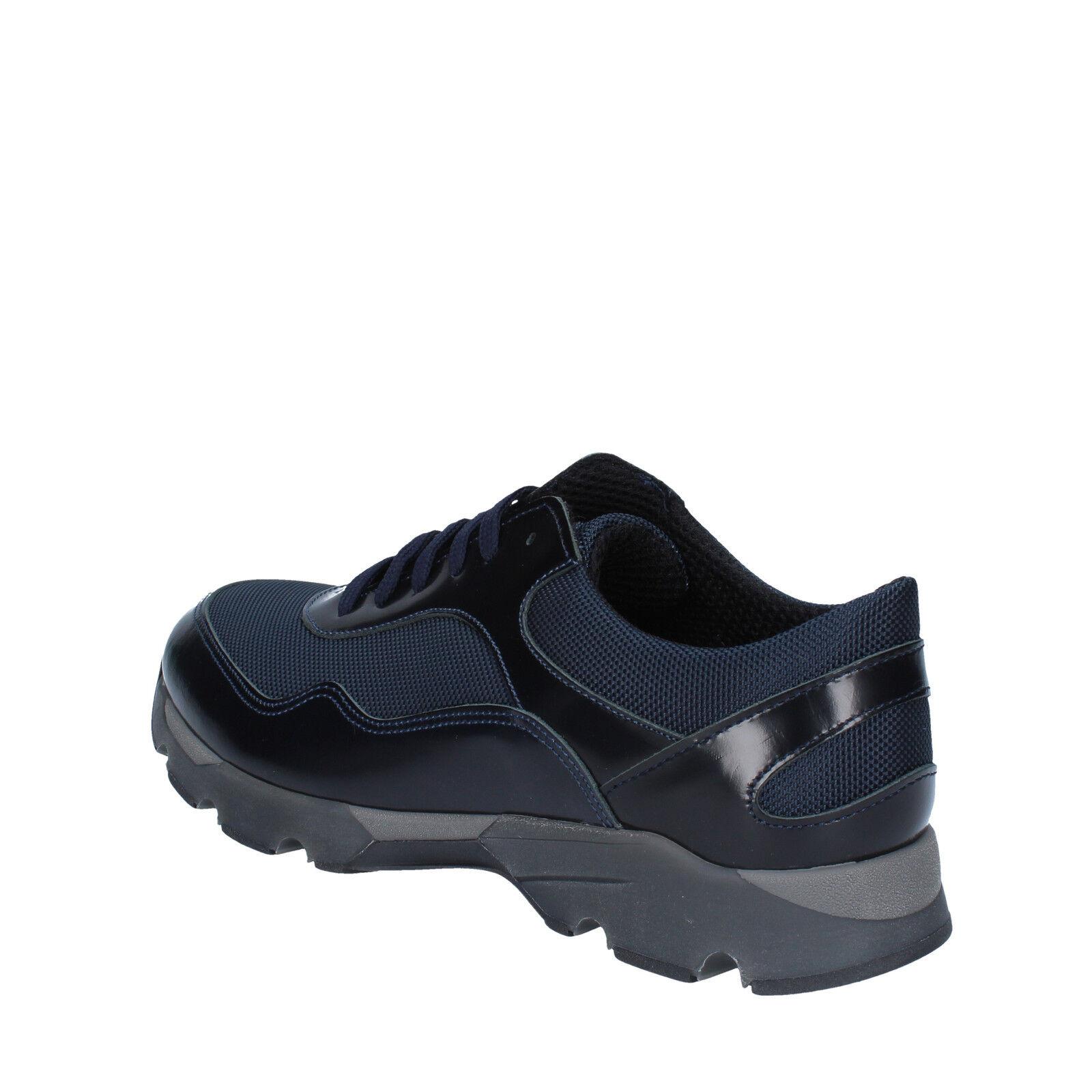 Herren schuhe BALDININI 43 Turnschuhe blau blau blau textil leder BY538-43    567216