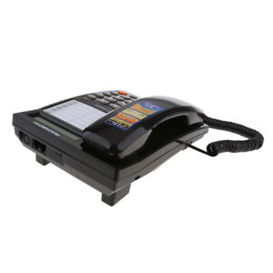 Caller-ID-Phone-for-wall-or-desk-with-Speaker-and-Memory-Black