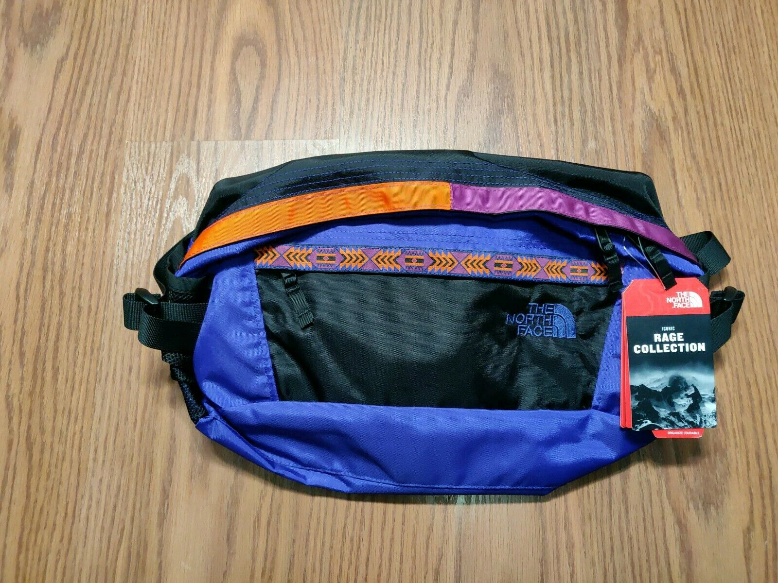 NWT The North Face 92 rage em fanny pack Größe large Aztec Blau rage