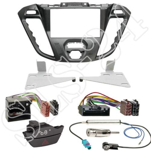Ford Transit Tourneo doble DIN diafragma Pegasus ISO KFZ cable del adaptador antena set