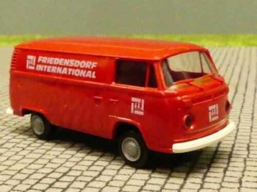 1//87 Brekina VW T2 Friedensdorf rot Kasten Sondermodell