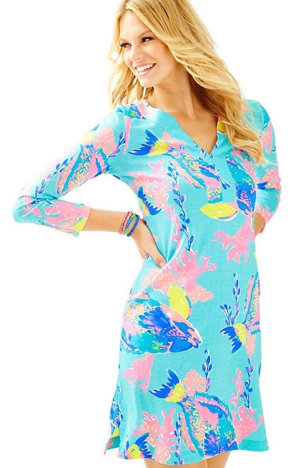 Lilly Pulitzer Riva Dress Shorley Blau Größe M NWT