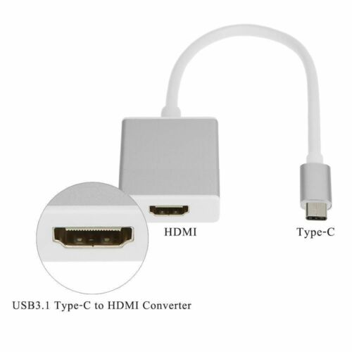 USB-C USB 3.1 Type-C to HDMI Adapter Audio Video HD For Dell XPS 15 13 12 Mac 4K