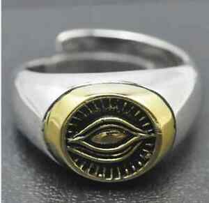 a6240d10eb596 Details about 925 Sterling Silver Eye Of Providence Ring All Seeing Eye  Freemasonry Masonic