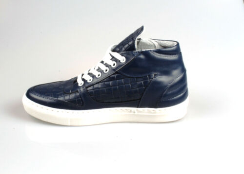 100 vera Srtinghe Uomo Men's Shoes Scarpe Madeinitaly Pelle Intrecciata Sneakers iTPZuOkX