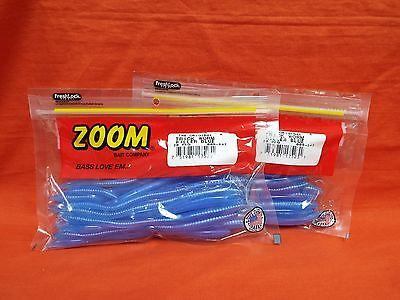 "2 PCKS #006-347 Killer Blue ZOOM 6.5/"" Trick Worm 20cnt"
