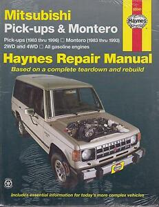 mitsubishi montero shogun l200 2 0 2 6 3 0 1983 1994 repair rh ebay co uk Mitsubishi Montero Sport 2003 Mitsubishi Montero
