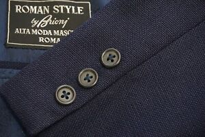 Brioni Roman Style VINTAGE Blue Woven Wool Sport coat Jacket Sz 46