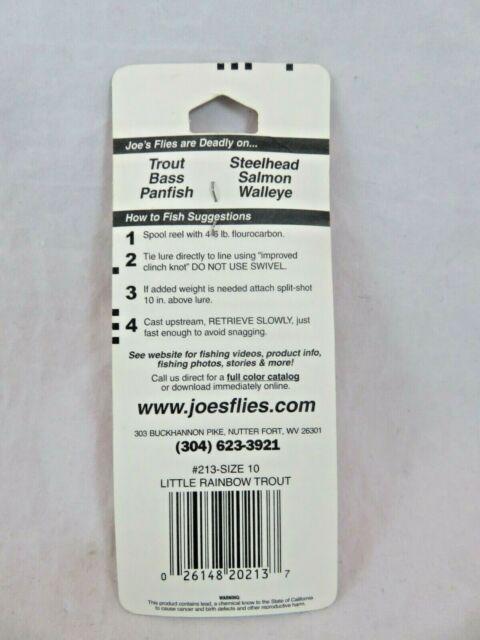 Joe/'s Flies Short Striker Series Little Rainbow Trout Size 10 213-10 for sale online