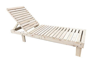 Patio Spa Pool Wooden Chaise Lounge Adjustable Chair Outdoor Garden
