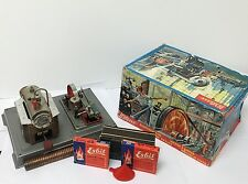 WILESCO D10 Toy Steam Engine Western Germany w/box, & Extras