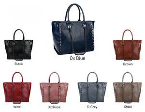 30b2515ba LeahWard Women's Large Chain Tote Shoulder Bags Faux Leather School ...