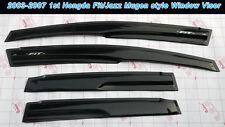 Mugen Style Window Vent Visor For Honda 03-07 Fit/Jazz Hatchback